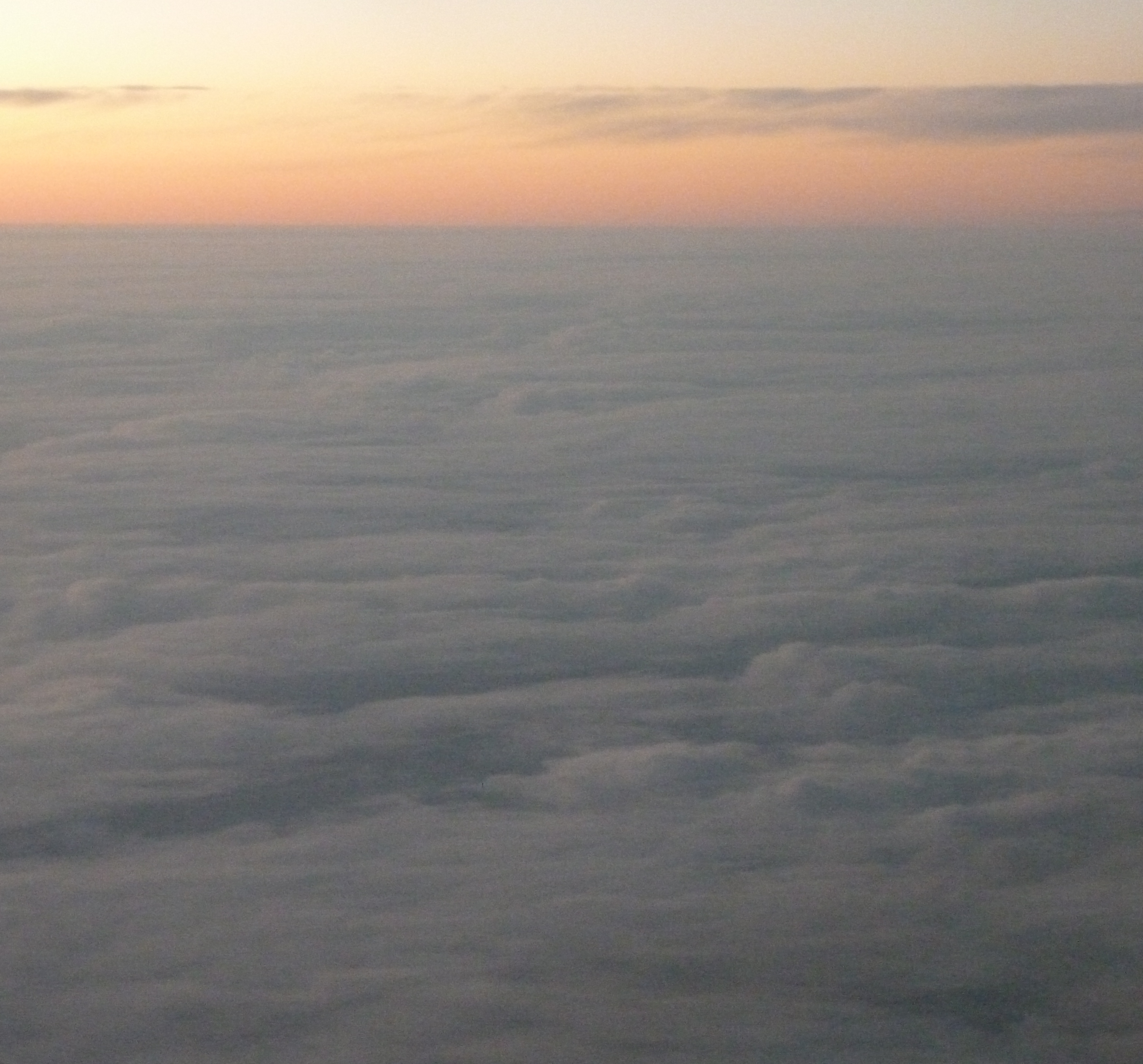 A view from on top the clouds