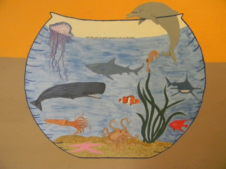 Love all creatures great and small on land and in the waters ~ painted by Karen Kubicko
