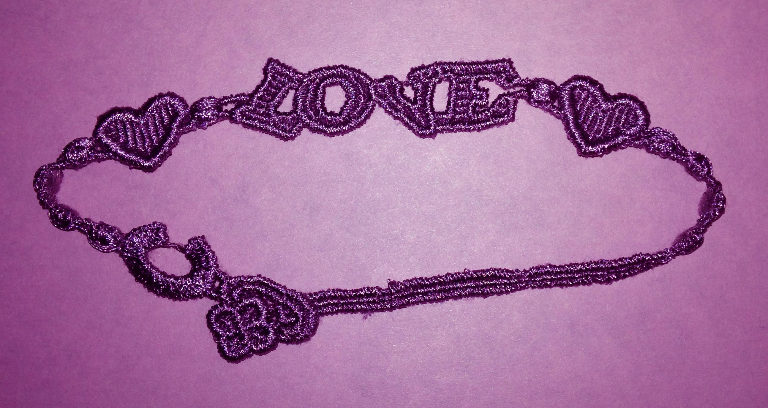 Love Bracelet with 4 leaf clover