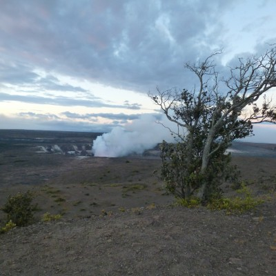 It is the dawning of a new day (Mauna Loa in Hawai'i) photo by Karen Kubicko