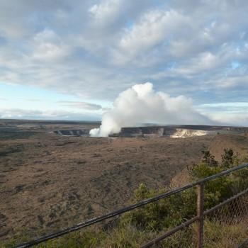 Near the Kilauea Caldera on the island of Hawaii