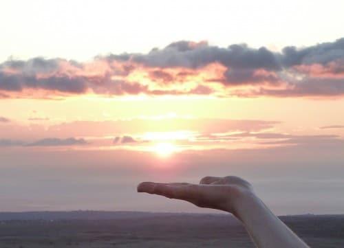 the sun in my hand